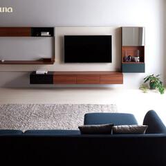 新築/施工事例/テレビボード/テレビ台/フロートタイプ/フロートテレビボード/... フロートタイプのTVボード   壁に施工…