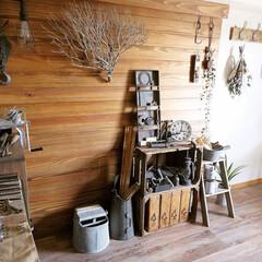 原状回復DIY/原状回復/板壁/ヴィンテージスタイル/ヴィンテージ/アンティーク/... 【板壁】 我が家のDIYのシンボル的存在…