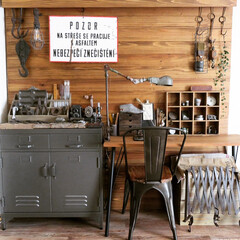 リビング/ディスプレイ/ヴィンテージ/アンティーク/junk/古道具/... 【模様替え】 ベンチを移動してキッチンカ…