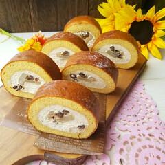和風パフェ/島ざらめ/米粉/ロールケーキ/グルテンフリー/米粉ケーキ/... お久しぶりの米粉ロールケーキ 😆 今回は…