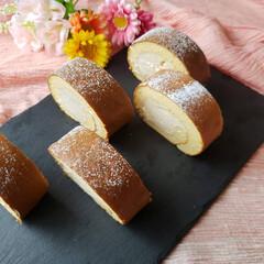 ロールケーキ/米粉/グルテンフリー/手作りスイーツ/おうちカフェ/お菓子作り好きな人と繋がりたい/... 平成最後のレシピ作りは…。 ずっと作りた…(1枚目)
