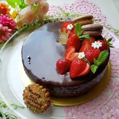 ザッハトルテ/デコレーションケーキ/米粉/お菓子作り好きな人と繋がりたい/誕生日ケーキ/バースデーケーキ/... ୨୧🅗🅐🅟🅟🅨 🅑🅘🅡🅣🅗🅓🅐🅨໒ バー…