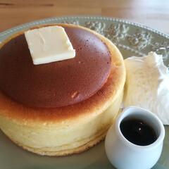 パンケーキ/至福の時/分厚い/待つ時間/カフェ/スイーツ/... 分厚いパンケーキ 時々食べたくなりません…