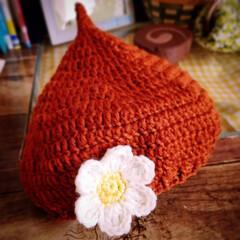 手作り/カギ針編み/どんぐり帽子/編み物