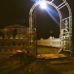 DIY/柵/薔薇/バラ/アーチ 家の周り三面を囲う木の柵をDIYで作りま…