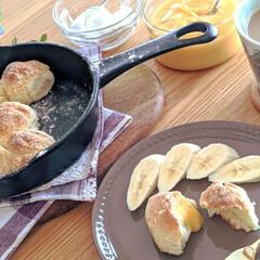 おうちカフェ/おうち時間/おうちごはん/休日/ブランチ/ちぎりパン/... ホットケーキミックスでちぎりパンを作って…(3枚目)