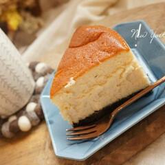 趣味の時間/思いつき/ニューヨークチーズケーキ/手作りおやつ/おうちcafé/手作りスイーツ/... ニューヨークチーズケーキ𓂃 𓈒𓏸◌  …(1枚目)