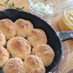 おうちカフェ/おうち時間/おうちごはん/休日/ブランチ/ちぎりパン/... ホットケーキミックスでちぎりパンを作って…(2枚目)