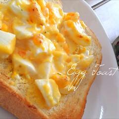 たまごトースト/トースト/朝食/懐かしの味/おうち時間/母の味/... その昔、母が気まぐれで作ったたまごトース…