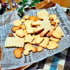 手形クッキー/雨の日の休日/親子のふれあいTime/手作りクッキー 折角の休日に生憎のお天気☔ 暇を持て余し…