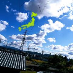 日本列島/雲/空 何かの形に見えるかも?シリーズ第3弾(笑…