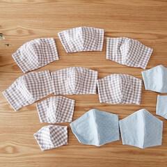 おうち時間/手作り/立体マスク/マスク/100均/雑貨/... 立体マスクを作ってみました♪ はじめはプ…(1枚目)