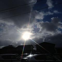 束の間の晴れ間/空/2018/冬 束の間の晴れ間。  今日は一段と空気が冷…