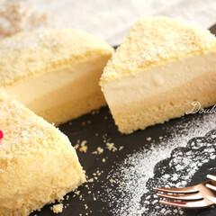 手作りスイーツ/手作りケーキ/食後のデザート/おうちcafé/おやつtime/マスカルポーネムース/... LeTAOのドゥーブルフロマージュ𓂃 …(1枚目)