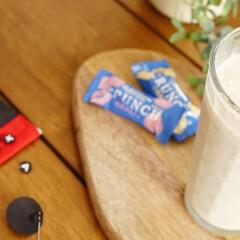 スムージー/リメイク/桃のアールグレイマリネ/至福のひととき/Switchマスク/手作りマスク/... 桃のアールグレイマリネを、牛乳と氷と一緒…(1枚目)