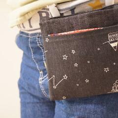 はぎれ活用/移動ポケット/ハンドメイド/手作り/ハンドメイド作品/LIMIA手作りし隊/... 子供の移動ポケットを作ってみました𓂃𖤥𖥧…(2枚目)