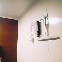お風呂場/オキシ漬け/モノトーン/靴用ブラシ/ブラシ/スキージー/... 100均おすすめアイテム♪ 〜お掃除編②…