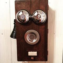 DIY/100均DIY/手作り/アンティーク/電話/キーケース/... ほぼ100均素材で作ったアンティーク電話…