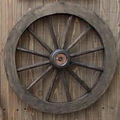 DIY/丸棒/100均DIY/車輪 憧れの車輪のオブジェが欲しくて探したので…
