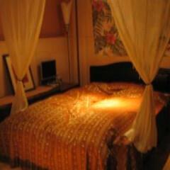 ファブリック/ベッドカバー/寝室/ベッドルーム/リゾート/間接照明/... ベッド周りをリゾート風に演出してくれるお…