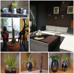 カフェ風インテリア/コンテスト/バリ/タイ/アフリカ/無国籍/... リゾート地にあるオープンカフェをイメージ…