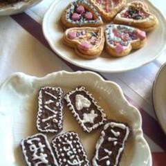 バレンタイン/子供/手作り/クッキー/チョコ/ハート/... 子供と一緒に作るバレンタインクッキーはパ…