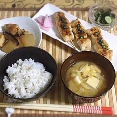 おうちカフェ ~夕飯~ ※ささみの串焼きネギ味噌ダレ …(1枚目)