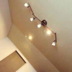 スポットライト/ダウンライト/LED電球/吹き抜け/杉板天井/天窓のある家/... 吹き抜けの有るダイニングです。 天窓が有…(2枚目)