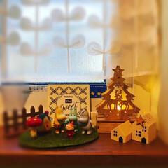 ムースケーキ/手作りケーキ/ムーミン一家のクリスマス/和室のクリスマス/シンプルクリスマス/クリスマス2019/... 大人だけのクリスマスは、地味です。 が、…(3枚目)