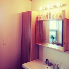 我が家の照明/LED電球/トイレの照明/世界地図/IKEAの洗面所/IKEAの照明/... 二階トイレと寝室の照明は、 ちょっとクラ…(4枚目)