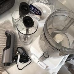 コードレス充電式ハンドブレンダー RHB-100J   クイジナート(その他調理用具)を使ったクチコミ「今日もクイジナートコードレス充電式ハンド…」(4枚目)