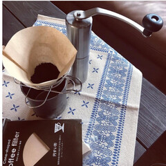 チタンダブルマグ450 snowpeak   スノーピーク(弁当箱)を使ったクチコミ「自宅で珈琲豆を焙煎してます。 簡単な焙煎…」(2枚目)
