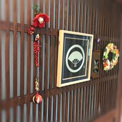 アンティーク/古き良き物/恵比寿大黒様/玄関インテリア/家紋インテリア/水引の家紋/... 自分好みの玄関インテリアです。 アンティ…