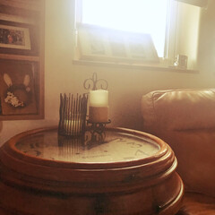 和室インテリア/和室/アンティークテーブル/レトロ風/古時計のカフェテーブル/カフェテーブル/... 大きな古時計で作った、カフェテーブル  …