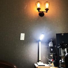 我が家の照明/LED電球/トイレの照明/世界地図/IKEAの洗面所/IKEAの照明/... 二階トイレと寝室の照明は、 ちょっとクラ…(3枚目)