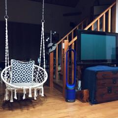 可愛い形/和モダンインテリア/クッションカバー/室内用ブランコ/リビングインテリア/Nウォームは温かい/... 和室もニトリ率高めです。 小さな和室に …(3枚目)
