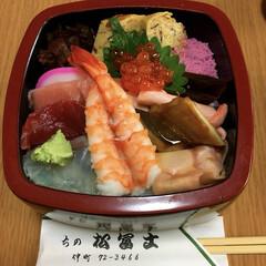 ちらし寿司/出前/ランチ 職場近くのお寿司屋さんに出前頼んでみんな…