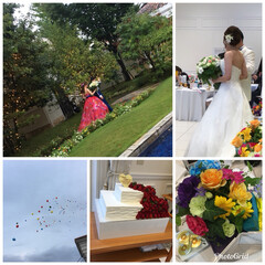 披露宴/チャペル/結婚式 今日は結婚式と披露宴に列席 教え子だった…