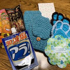 りみ友ちゃんからのプレゼント/ハンドメイド/暮らし 私には『青色』でした。 あの方とも、この…(1枚目)