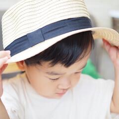 簡単/雑貨/おしゃれ/最近のコーデ/暮らし/節約/... ダイソーで購入したカンカン帽。黒リボンが…