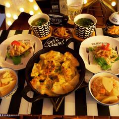 LIMIAごはんクラブ/わたしのごはん/おうちごはんクラブ/グルメ/フード/キッチン雑貨/... 晩御飯。タケノコご飯と、タケノコをチーズ…(1枚目)