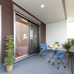 庭・ガーデニングリフォーム/ベランダ 自然の風や日差しを感じるインナーバルコニー