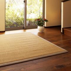 竹ラグ/竹/ひんやり/ふわふわ/サラサラ/夏/... 日本の夏の大定番、竹ゴザ そのゴザを座り…