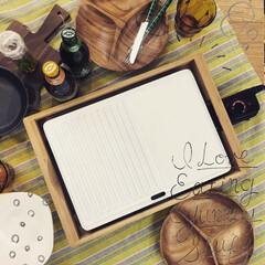 ホットプレート/セラミックプレート/バンブーグリル/おうち焼肉/焼肉/暮らしを楽しむ/... \食卓に映える白いホットプレート🙌🏻😉/…