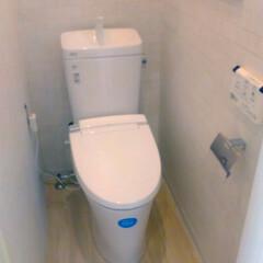 トイレ/リフォーム/リクシル/レンガ調 レンガ調壁紙で高級感あるトイレ空間へ!
