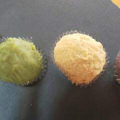 和菓子/シャトレーゼ/重陽の節句/おうちカフェ ちいさなおはぎ💜 胡麻や抹茶味もあり玄米…