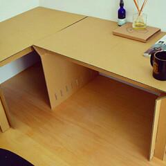 エコ/リサイクル/家具/デスク /段ボール/テーブル/... Low Table  100%段ボール製…