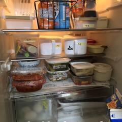 limiaキッチン同好会/100均/収納/掃除/暮らし/節約 冷蔵庫外は少しおしゃれになったけど。 今…(1枚目)