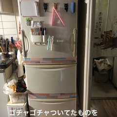 limiaキッチン同好会/新生活/セリア/キッチン収納/キッチン/暮らし/... 前からしたかった冷蔵庫のリメイク。 全体…(3枚目)