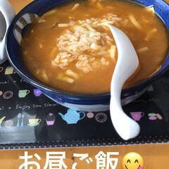 お昼ごはん/おやつタイム 昨日のお鍋の残りのお汁でリゾット?おじや…